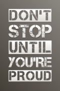 Until You're Proud Poster