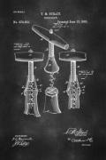 Wine Corkscrew Patent Poster
