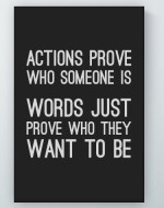 Actions Prove Poster