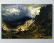 Albert Bierstadt - A Storm in the Rocky Mountains, Mt. Rosalie Poster