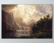 Albert Bierstadt - Among the Sierra Nevada Mountains, California Poster