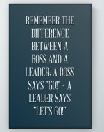 Boss And Leader Poster
