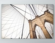 Brooklyn Bridge From Below Poster