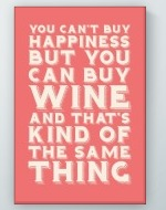 Can Buy Wine Poster