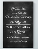 Chalkboard Wedding Hashtag Sign