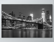 City Lights Black & White Poster