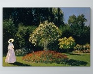 Claude Monet - Jeanne-Marguerite Lecadre in the Garden Poster