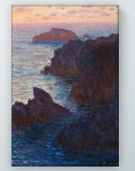 Claude Monet - Rocks at Belle-Isle, Port-Domois Poster