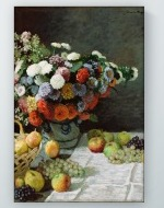 Claude Monet - Still Life with Flowers and Fruit Poster
