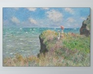 Claude Monet - The Cliff Walk at Pourville Poster