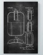 Flask Patent Poster