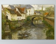 Frits Thaulow - Small Town near La Panne, Belgium Poster