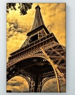 Golden Eiffel Tower Poster