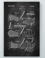Golf Club Patent Poster