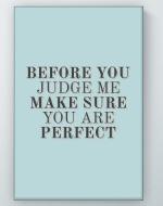 Judge Me Poster