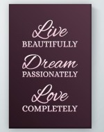 Live Beautifully Poster