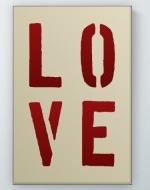 Love Stencil Poster