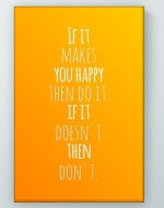 Makes You Happy Poster