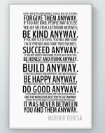 Mother Teresa - Anyway Poster
