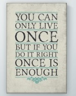 Only Live Once Poster