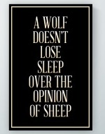 Opinion Of Sheep Poster