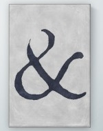 Painted Ampersand Poster