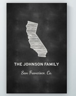 Personalized Chalkboard State Wall Art