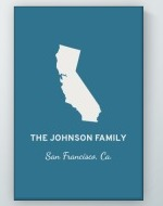 Personalized State Wall Art