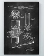 Phillips Screwdriver Patent Poster