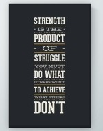 Product Of Struggle Poster