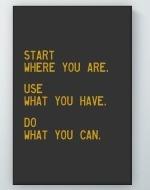 Start Use Do Poster