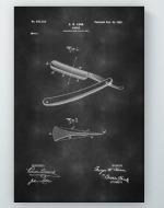 Straight Razor Patent Poster
