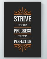 Strive For Progress Poster