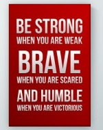 Strong Brave Humble Poster