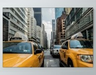 Taxis In Traffic Poster