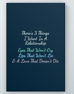 Three Things Poster