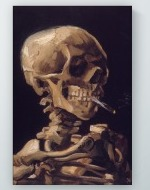 Vincent van Gogh - Skull of a Skeleton with Burning Cigarette Poster