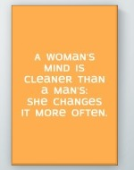 Woman's Mind Poster
