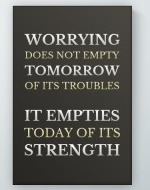 Worrying Does Not Poster