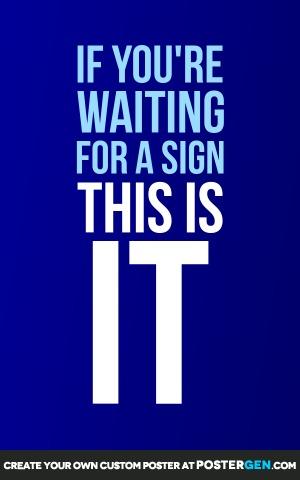 A Sign Print