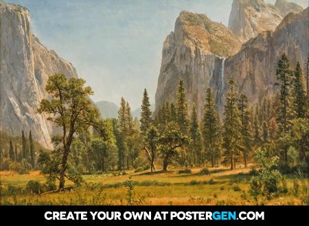 Albert Bierstadt - Bridal Veil Falls, Yosemite Print