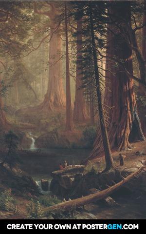 Albert Bierstadt - Giant Redwood Trees of California Print