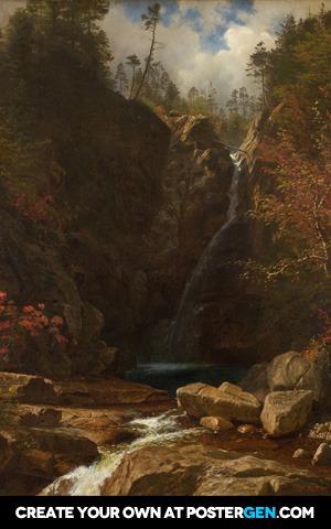 Albert Bierstadt - Glen Ellis Falls Print