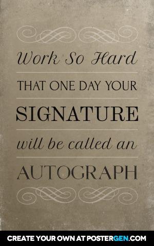 Custom Autograph Poster Maker