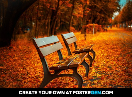 Autumn Park Bench Print