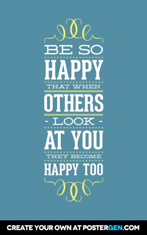be so happy poster maker quote posters custom posters