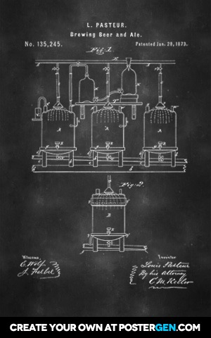 Beer Brewing Patent Print