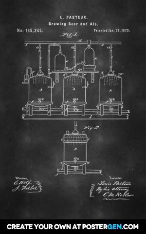 Beer Brewing Patent Print
