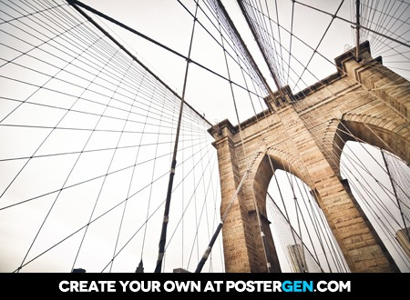 Brooklyn Bridge From Below Print