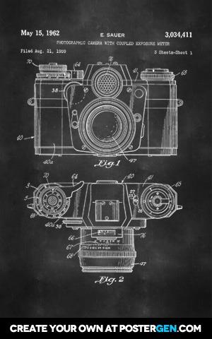 Camera Patent Print